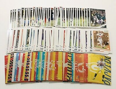 2018 Panini DonRuss NFL Football Base Cards Lot Of 100 with Inserts & Rookies