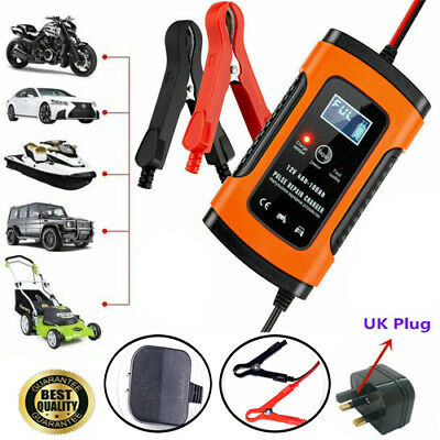 12V Automatic Electronic Intelligent Fast Battery Charger for Car Motorbike Boat