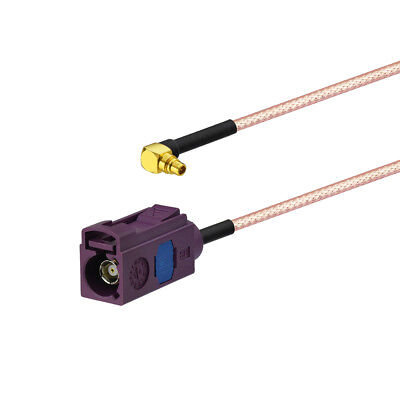 Fakra D Jack To MMCX Plug right angle Pigtail RG316 15cm for GPS Antenna cable
