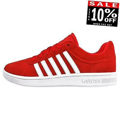 K Swiss Court Cheswick Mens Suede Leather Classic Casual Retro Fashion Trainers