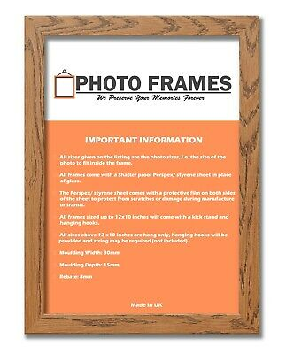 Dark Oak Photo Frame With Mounts Flat Photo Frames Wooden Effect Picture Frames