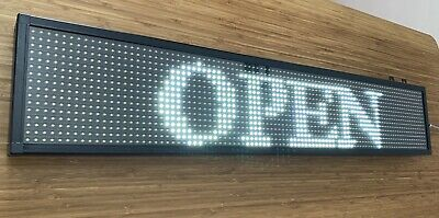 LED DISPLAY SCROLLING PROGRAMMABLE MOVING MESSAGE SHOP SIGN - Super Bright WHITE