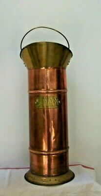 Vintage French Copper stick stand 5-Kan Trench Art style walking umbrella