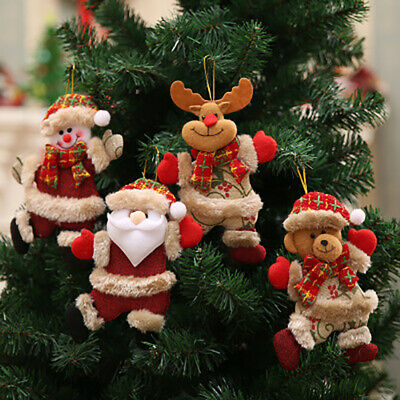 Merry Christmas Ornaments Gift Santa Claus Snowman Tree Doll Hang Decorations SP