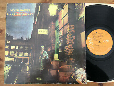 DAVID BOWIE Ziggy Stardust UK 1st Press Vinyl LP Record 1972 RCA SF8287 Stereo
