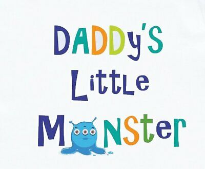 ****************Daddy's Lil Monster*********** **Fabric T-Shirt Iron On Transfer