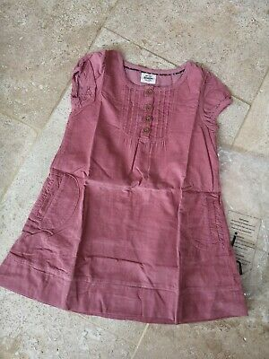 New In Bag Boden Dusty Pink Cordaroy Dress Age 5-6