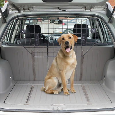 PawHut Heavy Duty Pet Dog Car Barrier Adjustable Mesh Wire Guard Auto Vehicle