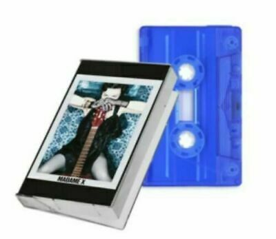MADONNA  MADAME X Transparent  BLUE LTD UK EXCLUSIVE CASSETTE TAPE NEW! SEALED