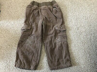 Boys Marks And Spencer Brown Trousers Age 2-3