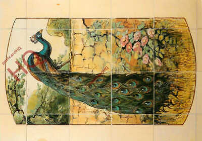 Picture Postcard::Ironbridge Gorge Museum, Peacock Tile Panel, Maw & Co.