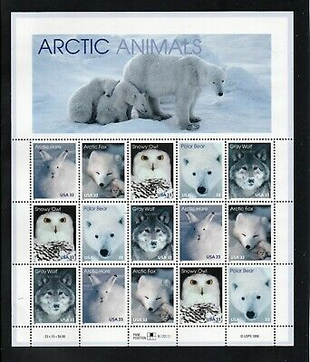 USA 1999 Arctic Animals. Sheet of 20 mint.  One postage for multi buys...