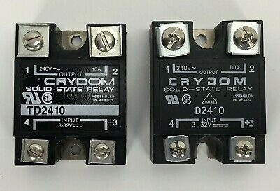 Lot of 2 - Crydom TD2410, D2410 Solid State Relay 10A 240V *WARRANTY & FREE SHIP