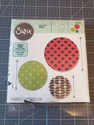 "2"" /&  2.5"" Inches NEW Sizzix BIGZ Fabric-Cutting Die800002 Circles 1.5"""