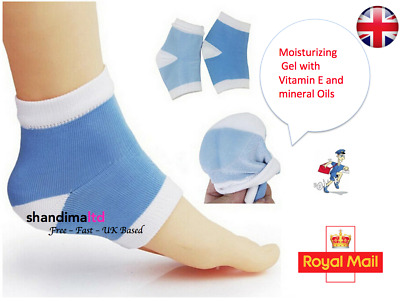 Pair of Cracked Heel Therapy Gel SPA Socks Dry Heel Moisture Rich Day or Night