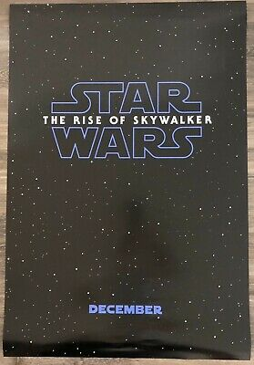 "Star Wars Rise of Skywalker Official DS Movie Teaser Poster 27"" X 40""  NEW"