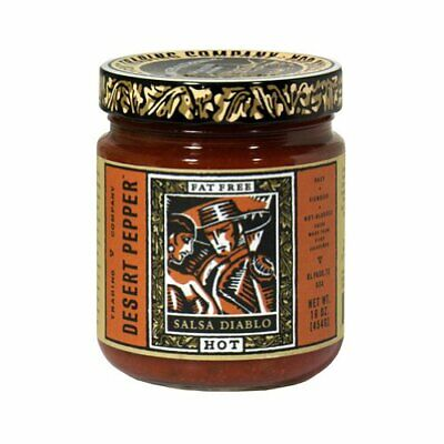 Desert Pepper Salsa Diablo Hot, 16 Ounce (Pack of 6)