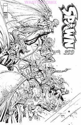 SPAWN #300 COVER P OPENA SKETCH B & W VARIANT McFARLANE SEPT 2019 NEW 1 SOLD OUT