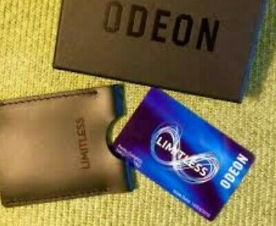 Odeon Limitless Annual Pass E-Code - must be redeemed by 31/12/19. £205 Value!