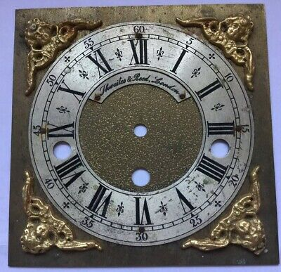 Vintage  Brass Bracket Clock Dial By thwaites And Reed London