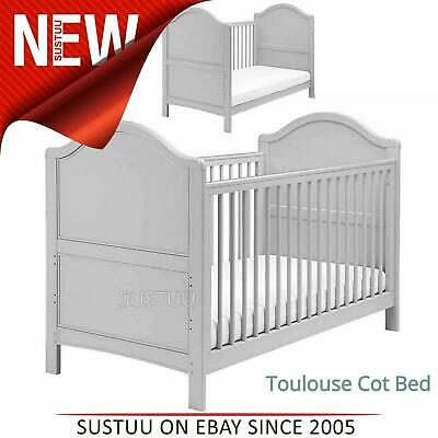East Coast Toulouse Cot Bed¦Convert In To Toddler bed¦2 Protective Teething Rail
