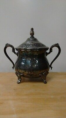 W.M Rogers Silver Plated Sugar Bowl With Lid