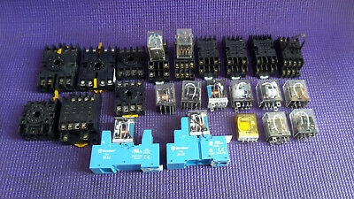 Assorted Relay & Sockets Finder Brand Etc.