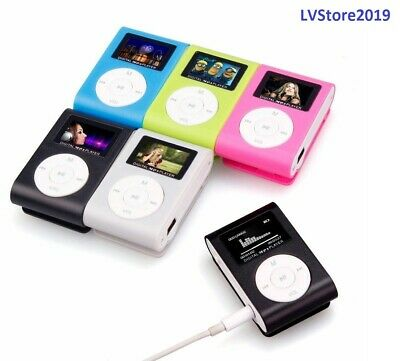 Mp3 Lettore Musicale Con Schermo Digitale Lcd Mini Clip Supporta Sd 32Gb
