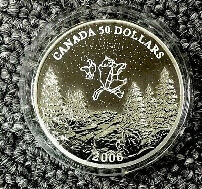 CANADA 2006 WINTER $50  1oz Palladium Big & Little Bear Constellations, LOW POP