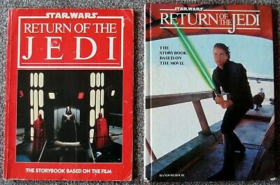 Vintage Return Of The Jedi Storybook - hardcover and softcover version Star Wars