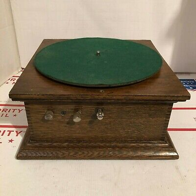 ANTIQUE HAND-CRANK PHONOGRAPH RECORD PLAYER- For Parts or Repair