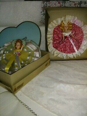 Vintage 1950's Whitman's Candy Doll Hearts. Eye's open and close