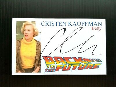 """Back To The Future"" Cristen Kauffman ""Betty"" Autographed 3X5 Index Card"