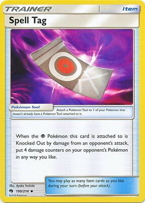 1x Pokemon SM Lost Thunder Spell Tag #190 Uncommon Near Mint