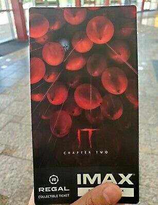 IT Chapter 2 IMAX Regal Collectible Ticket FREE SHIPPING