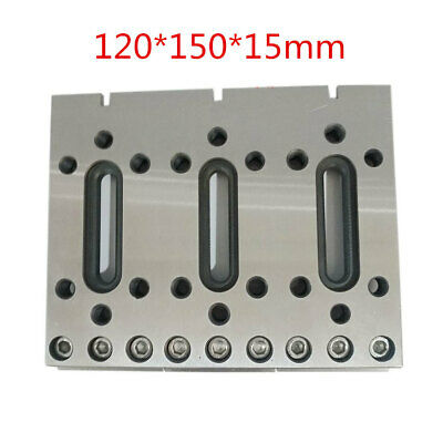1PC 120x100x15mm Wire Cutter CNC EDM Fixture Board Stainless Steel Jig Tool