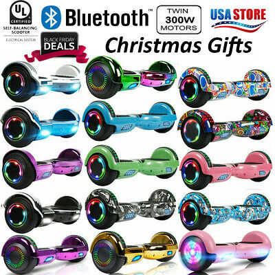 """6.5"""" Hoverboard Bluetooth Swagtron Electric Balance Scooter with Bag Side LED"""