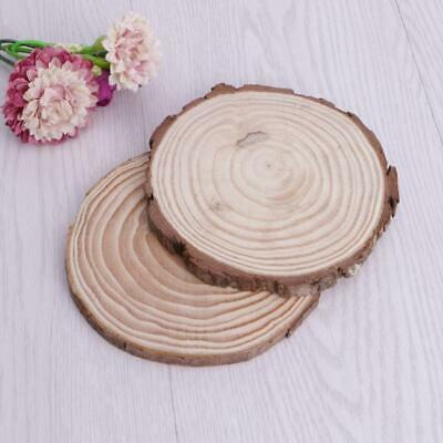 Natural Wood Slices Plate Round Wooden Chips Disc For DIY Craft Ornament