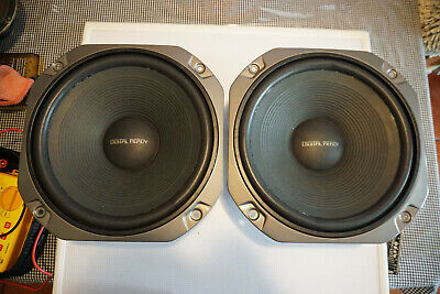 """Pair of Vintage Realistic Tandy 12"""" 8 Ohm 60W C300L37G0063 Woofer Drivers"""