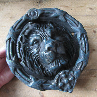 Very Large and Heavy Cast Iron Lion Door Knocker Antique STYLE / Reproduction