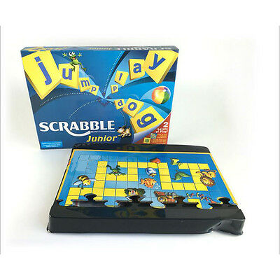 Junior Scrabble Word Game Family Board  Funny Educational Learning Toy Kids Gift