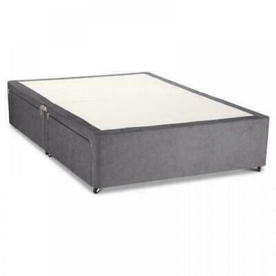 New Charcoal Divan Bed Base-Storage Drawers- Mattress-Free Delivery +Free Return