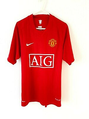 Manchester United Home Shirt 2007. Small. Nike. Red Adults Man Utd Football Top.