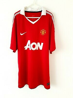 Manchester United Home Shirt 2010. XL. Nike Red Adults Man Utd Football Top Only