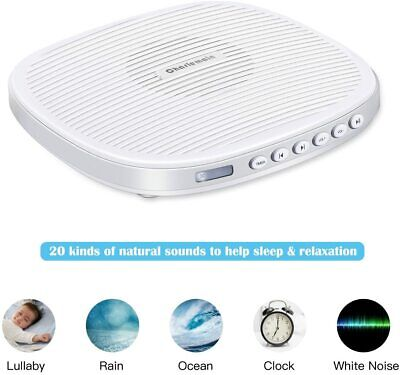 Sleep White Noise Machine, 20 Soothing Sounds, Sleep Aid Machine with Earphone J