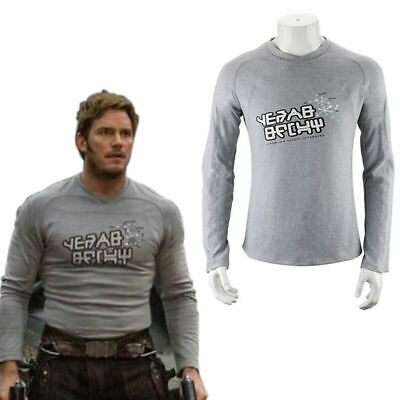 AU STOCK Guardians Of The Galaxy Vol. 2 Star-Lord T-Shirt Men Long Sleeve Tops