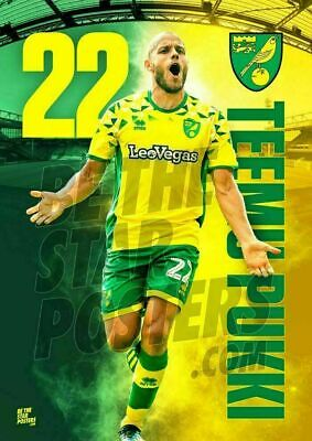 Available in A2 /& A3 Be The Star Posters Norwich City FC A2 Teemu Pukki 2018//19 Player Poster Official Licensed Product Size A2