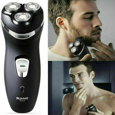 Men 3 Heads Electric Trimmer Rotary Shaver Cordless Rechargeable Dry Wet Shaving
