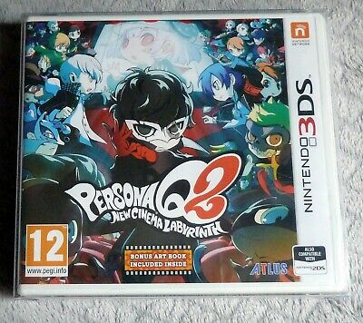 PERSONA Q2 New Cinema Labyrinth Nintendo 3DS / 2DS New Sealed UK PAL + Art Book