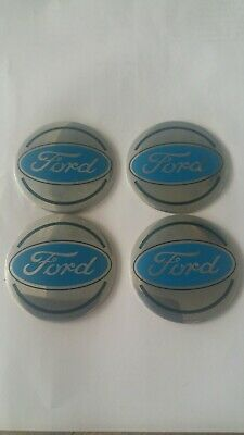 4x Stickers Metal Caps 56mm For FORD Centre Hub Wheel Cap Emblem Sticker